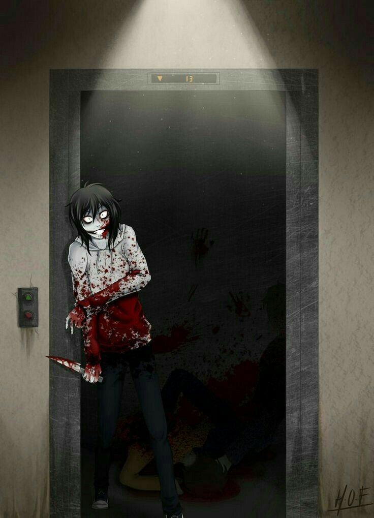 Jeff the Killer, elevator; Creepypasta
