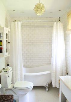 small vintage bathroom clawfoot tub