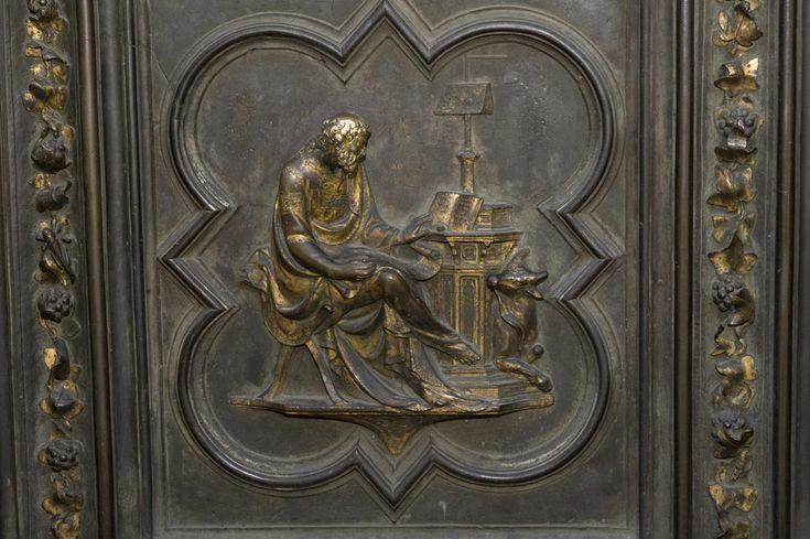 ANDREA DA PONTEDERA, Battistero di San Giovanni, particolare formella della porta nord, San Luca