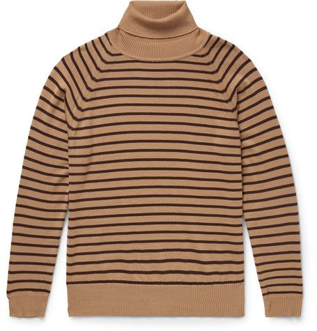 Striped Wool Rollneck Sweater - Marc Jacobs