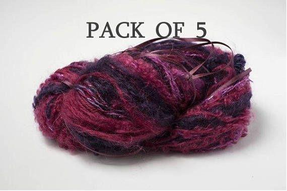 Art Yarn Pack 5 Hanks Berries 8.8oz/250g Pack Magic Yarn