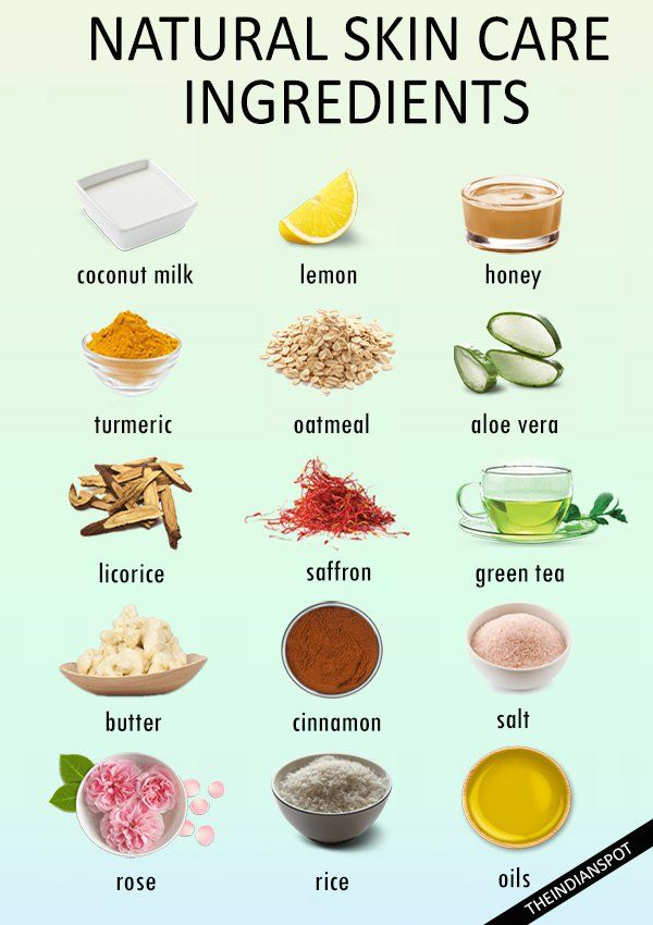 BEST INGREDIENTS TO LOOK FOR IN NATURAL SKIN CARE PRODUCTS
