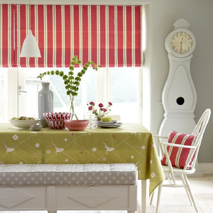 From the Swedish Collection this Roman Blind has a Scandinavian approach in the bright colour of Stockholm Stripe Sweet Pea and Winter
