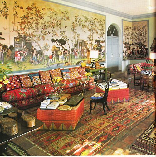 Home of interior designer Duarte Pinto Coelho, outside of Madrid  Architectural Digest october 1980Design Duarte, Duarte Pinto, Colorful Rooms, Colors Pattern, Kids Room, Kid Rooms, Interiors Designer'S, Architecture Digest, Digest October
