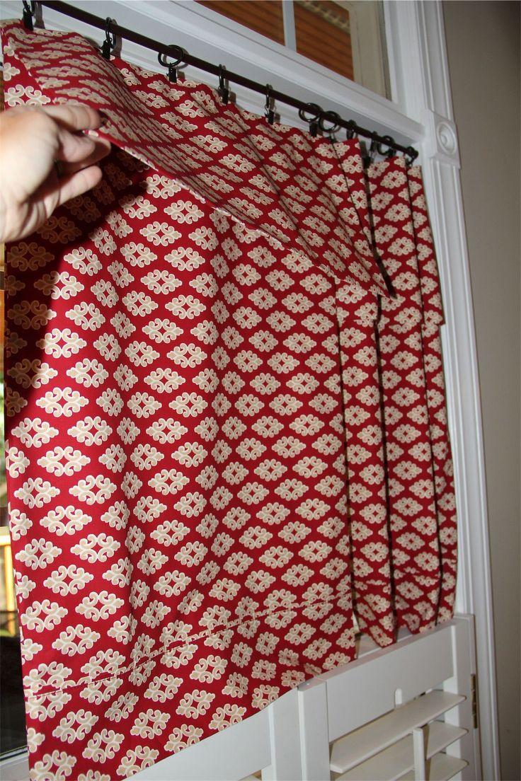 Retro camper curtains - No Sew Pillowcase Curtain 2