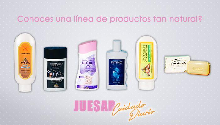 Alguna vez habías visto una linea de productos para tu cuidado diario tan completa y tan natural? si quieres conocer a fondo nuestros productos visita www.juesar.com
