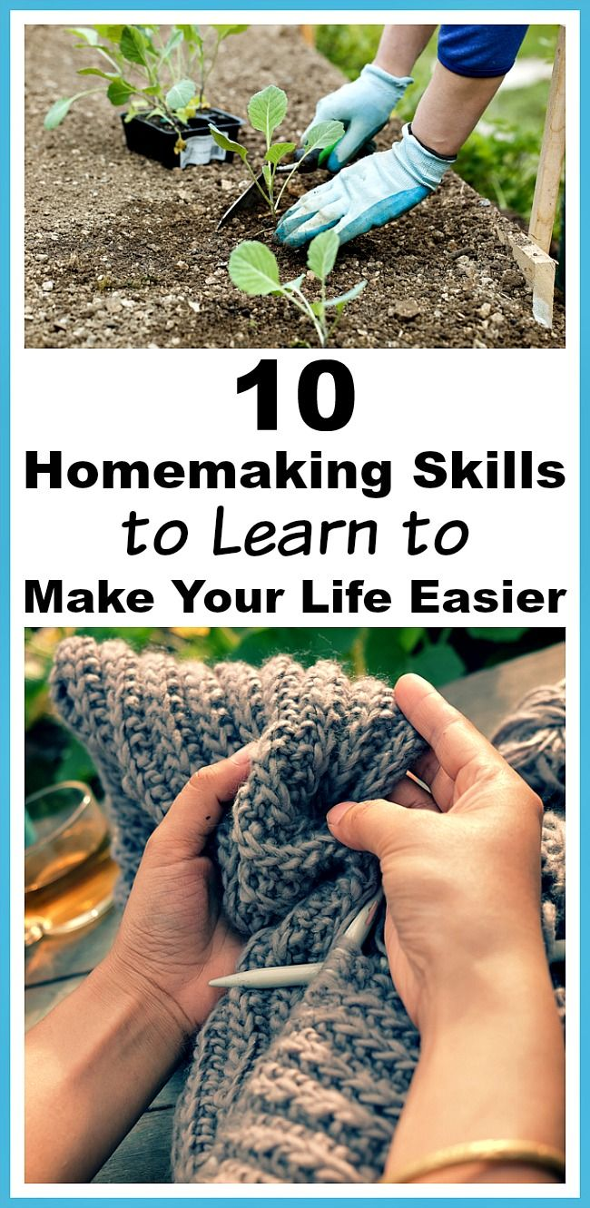 10 Homemaking Skills to Learn to Make Your Life Easier- When caring for your family, some basic skills make everyday life so much easier, and can save you money! Here are 10 homemaking skills to learn to make your life easier! | home management, homemaker, stay at home mom, sahm, life skills, frugal living, money saving tips,