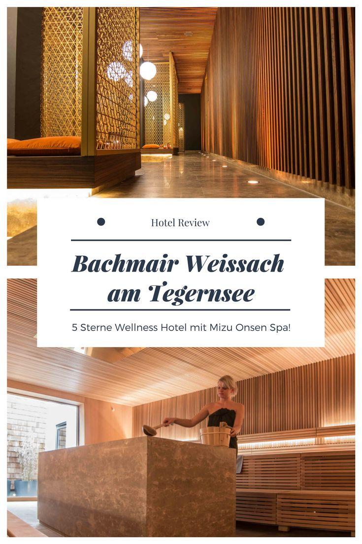 Hotel Review zum Wellnesshotel Bachmair Weissach am Tegernsee. Der neu eröffnete MIZU ONSEN SPA ist in Deutschland einmalig! Lasst euch bei Massagen verwöhnen, empfindet die Japanische Badekultur nach und tut euch etwas gutes. Perfekt zum Detox, Entspannung und als Auszeit zum Valentinstag. Ein guter Tipp sind auch die Restaurants am Tegernsee und im 5 Sterne Hotel Bachmair Weissach. Ausflug, München, Bayern, Wellness, Kurzurlaub, Yoga Retreat, Berge!