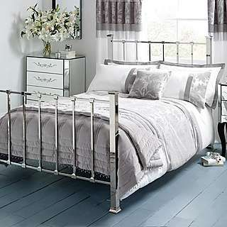 Roma Silver Damask Bed Linen Collection | Dunelm