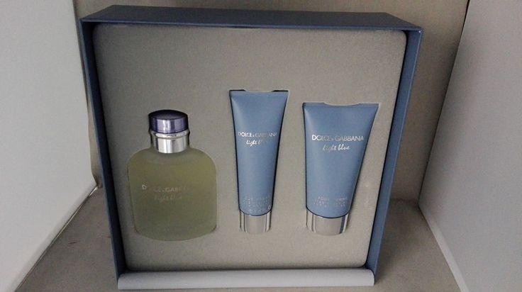 Dolce Gabbana Homme Light Blue 100ml EDT+75ml After Shave+50ml Duschgel #DolceGabbana