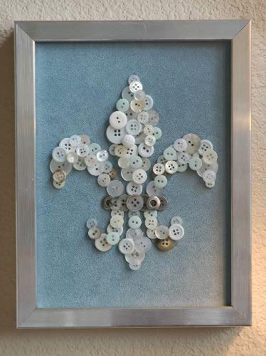 Gallery wallCrafts Ideas, Button Art, Buttons Crafts, Button Crafts, Cute Ideas, Buttons Art, Buttons Fleur, Fleur De Lis, Diy