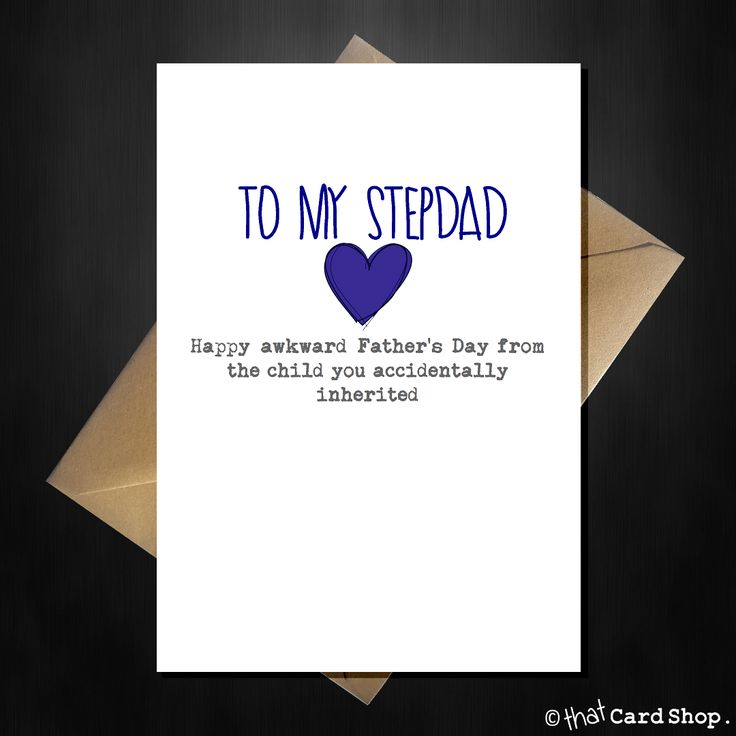 Naughty Fathers Day Card for your Stepdad - Happy Awkward Fathers Day