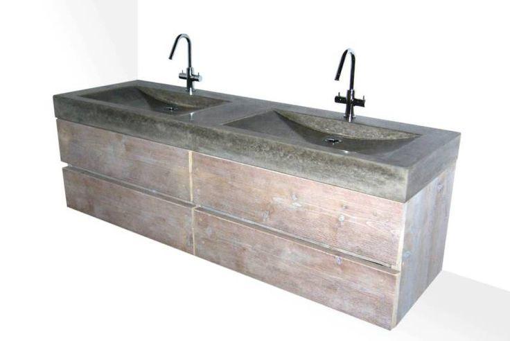 hangend badmeubel beton en steigerhout solidus ermelo
