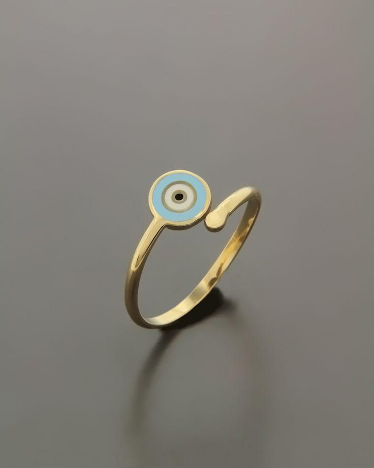 Δαχτυλίδι σεβαλιέ χρυσό με Σμάλτο