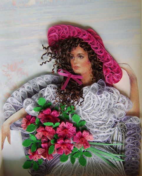 Lady-done in quilling