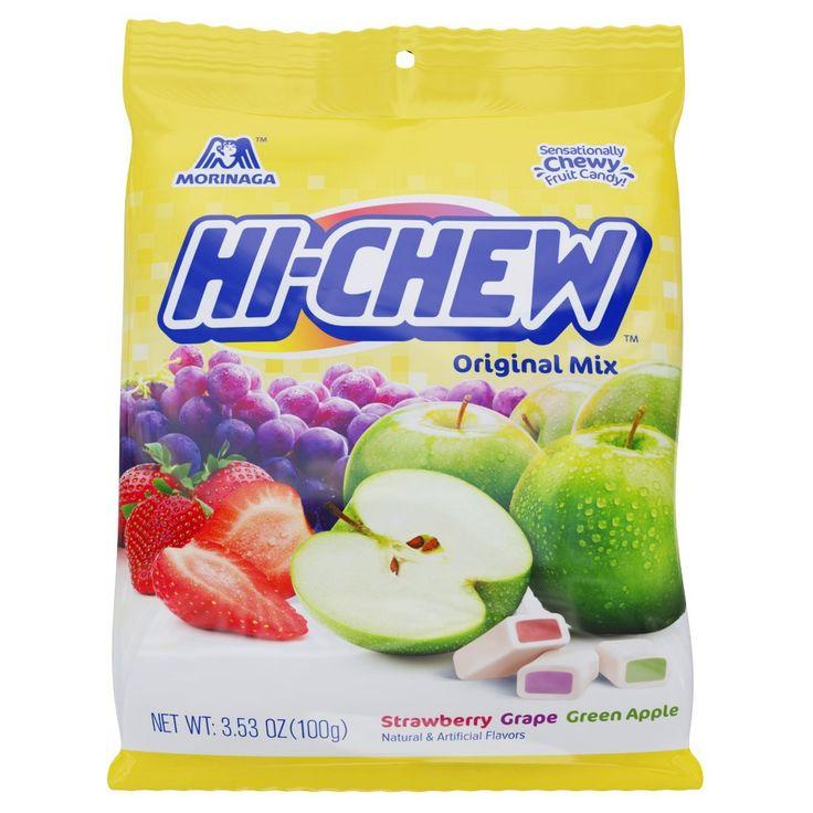 Morinaga Hi-Chew Original Mix Strawberry Grape Green Apple Fruit Chews 3.53 oz