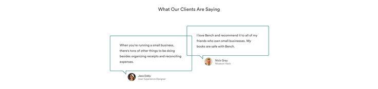 Bench.co #testimonials #webdesign #inspiration