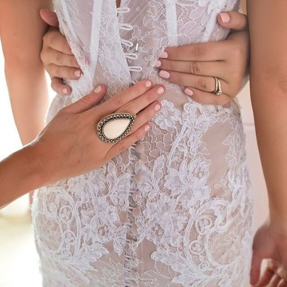 All you need is love, lace, a signature Samatha Wills ring and a chic essie mani.