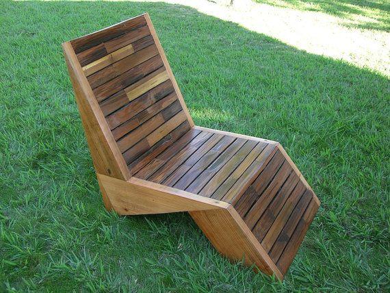 Deck Chair - Lawn Chair - Redwood Deck Chair - ... —