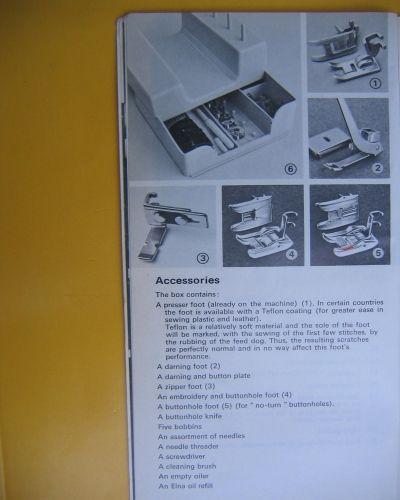 elna supermatic sewing machine instruction manual
