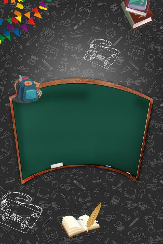 School Wordpad Chalk Background School Chalkboard Art Powerpoint Background Design Poster Background Design