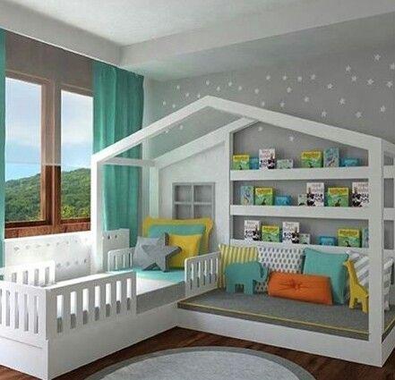 Utilidad y organización en la habitación de los pequeños