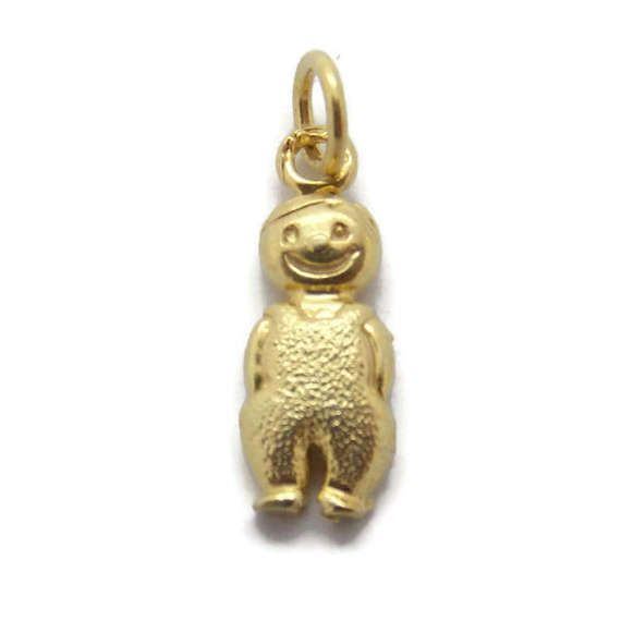 gold boy pendant baby shoe little charm