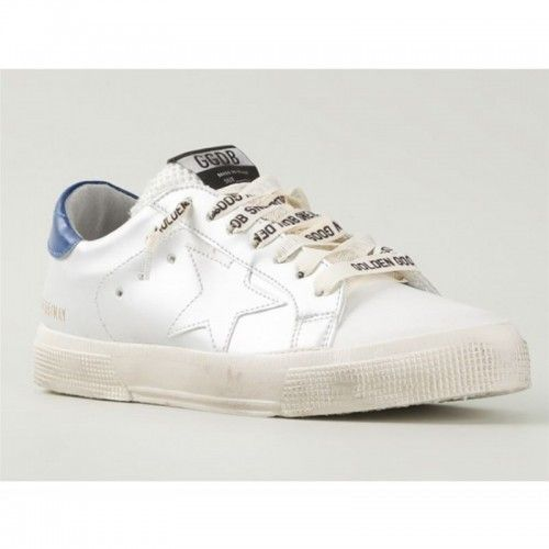 Sneakers Golden Goose Donna May GGDB Scarpe Pelle Star Con Blue Saldi