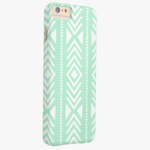 Awesome iPhone 6 Case! Cool Mint Green Tribal Pattern Barely There iPhone 6 Plus Case. It's a completely customizable gift for you or your friends.