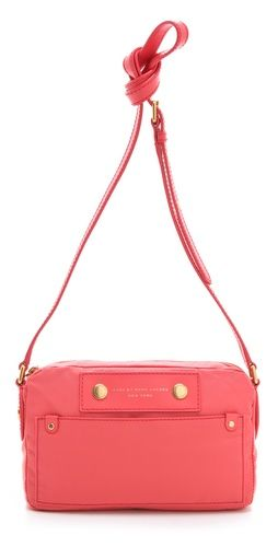 {coral Preppy nylon camera bag} by Marc Jacobs; goes with my Diana Mini!: Coral Cameras, Nylons Cameras, Pretty Cameras, Favorite Color, Cameras Bags, Day Bag, Color Well, Camera Bags, Marc Cameras