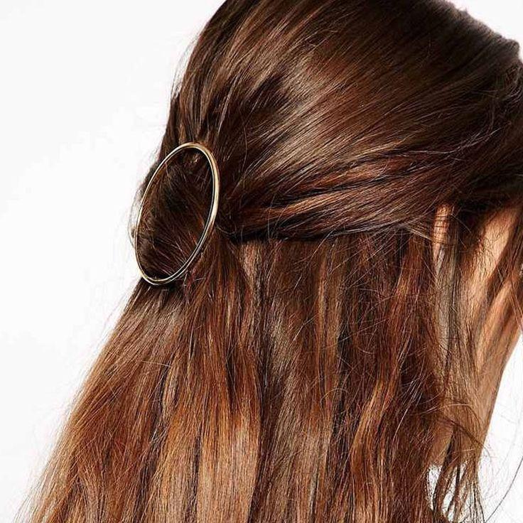 New fashion rambut perhiasan rambut memakai mudah desain logam putaran hadiah jepit rambut untuk wanita gadis H356