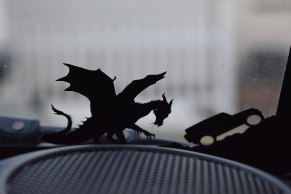 Maleficent Jeep Dragon Silhouette Vinyl Decals