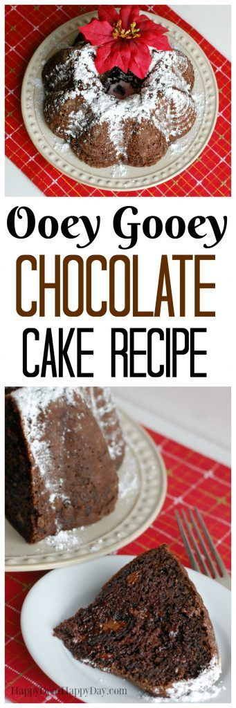 Ooey Gooey Chocolate Cake Recipe - this one is so amazing!!! This is THE moisted and best chocolate pudding cake you will ever taste! For the full recipe, go here: http://wp.me/pUbK5-wdm