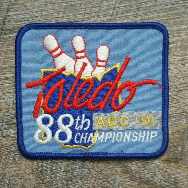 Toledo 88th Championship ABC '91, Vintage Bowling Patch, Vintage Bowling, Vintage Patch, Patch, Toledo, ABC, 90's, 1990s, Bowling, VHIS Team by AddisonsAtticAZ on Etsy