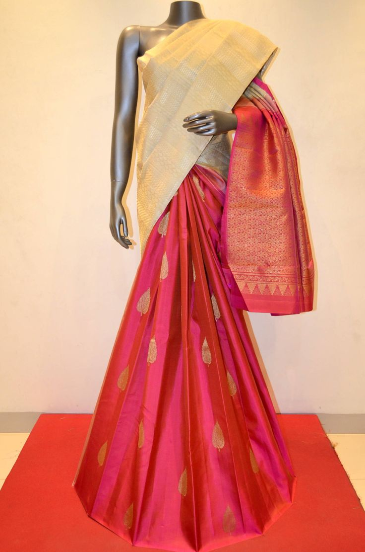 Classic Off White With Pink Patli Kanjeevaram Saree Product Code: AB200282 To Shop Online Click Here: http://www.janardhanasilk.com/index.php?route=product/product&product_id=2181&search=AB200282