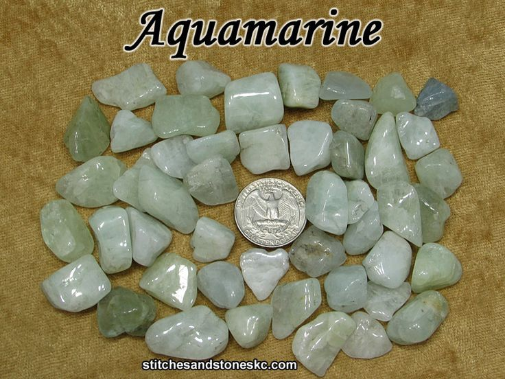 Aquamarine tumbled stone