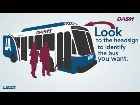 How to Ride LADOT DASH  Los Angeles