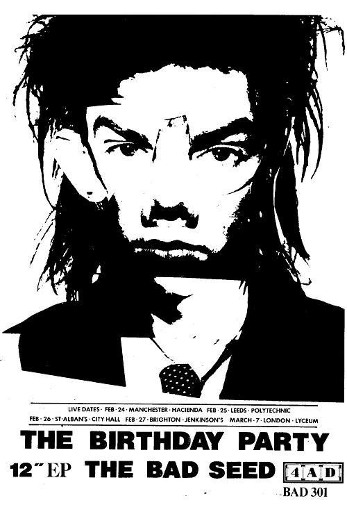 THE BIRTHDAY PARTY nick cave poster