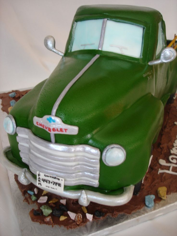 Old Chevy Truck Cake Shaped Cakes Pinterest Truck