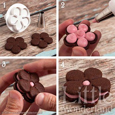 Galletas de chocolate y frambuesa   Chocolate and raspberry cookies