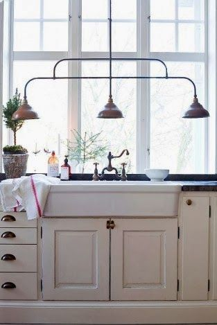 farm sink and lights - kitchen window is a must have