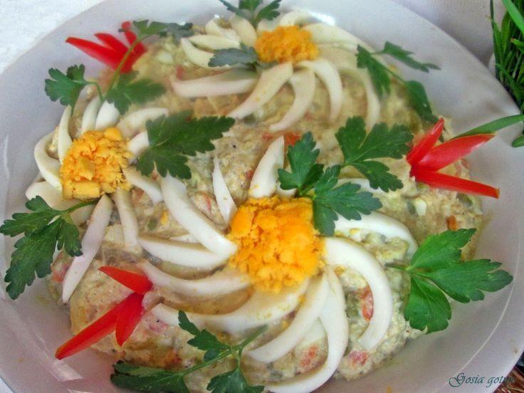 Gosia gotuje...: Wielkanocna sałatka jarzynowa