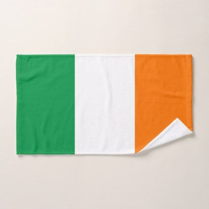 Hand Towel with Flag of Ireland - cool gift idea unique present special diy
