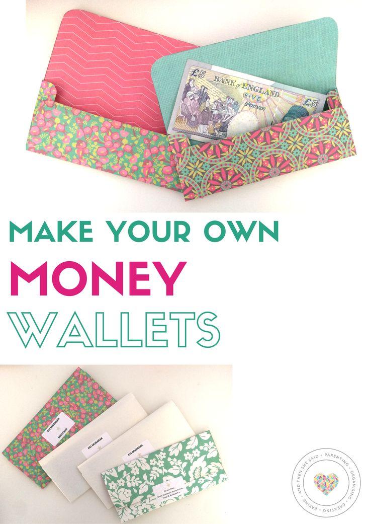 Make your own money wallets Letter a crafts, Diy wallet
