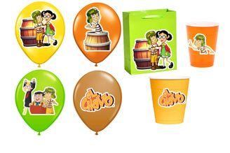 El Chavo del Ocho Birthday Balloon Sticker and party favors