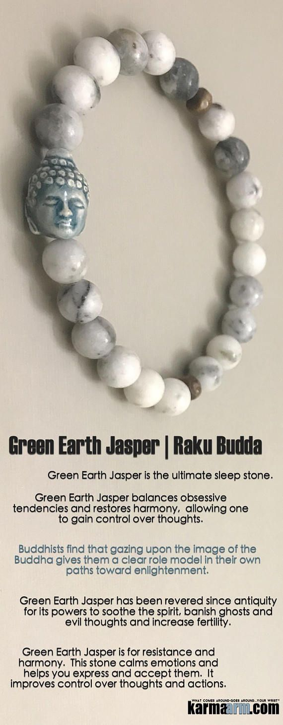 #BEADED #Yoga #BRACELETS  ♛ Green Earth Jasper has been revered since antiquity for its powers to soothe the spirit, banish ghosts and evil thoughts and increase fertility.. #Buddha #Buddhist #DalAiLama #Mens #Good #Luck #womens #Jewelry #Eckhart #Tolle #Crystals #Energy #gifts #Chakra #Healing #Kundalini #Law #Attraction #LOA #Love #Mala #Meditation #prayer #Reiki #mindfulness #wisdom #CrystalEnergy #Spiritual #Robbins  #friendship #Stacks #Lucky #Fertility