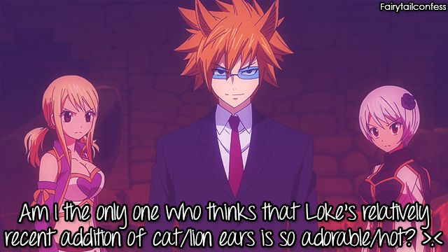 Am I the only one who thinks that Loke's relatively recent addition of cat/lion ears is so adorable/hot? >.<     – submitted by anonymous