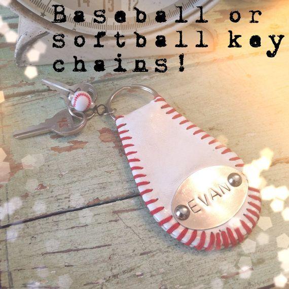 Baseball or softball keychain via Etsy
