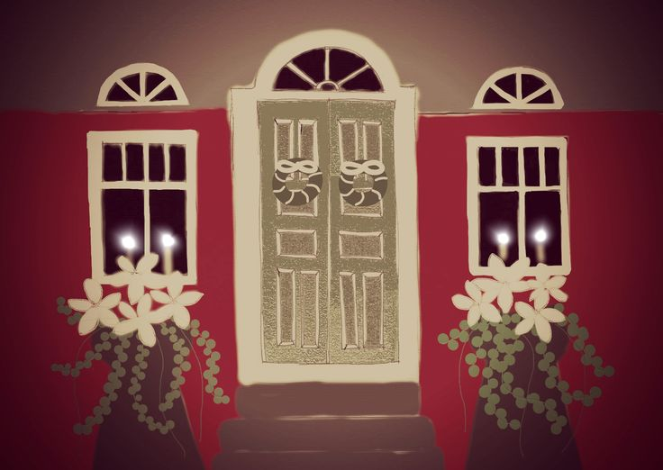 Christmas Home. Drawing design by Hammi´s Design.
