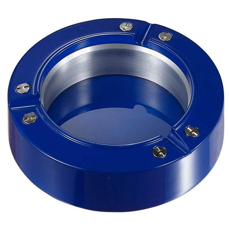 Cobalt Metal and Resin Cigarette Ashtray, Blue